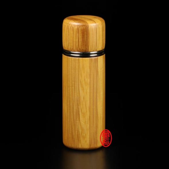 私章印章盒-孟宗竹罐(圓)