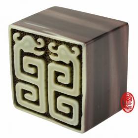 玉璽宮廟印章--夾板凍石印章
