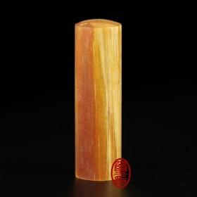 琥珀檀香木印章(六分)(可透光有檀香)