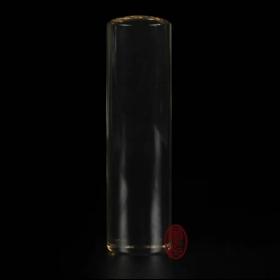 天然水晶印章- (茶晶)圓