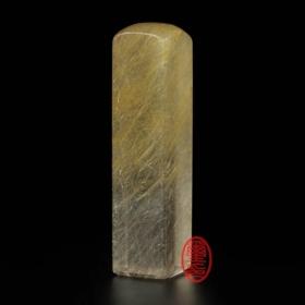 天然水晶印章-(髮晶印章)方