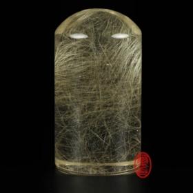 天然水晶印章-(髮晶印章)圓
