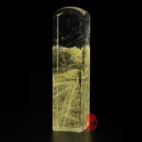天然水晶印章-鈦晶印章