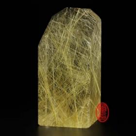 天然水晶印章-(鈦晶公司印章)