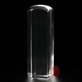天然水晶印章-(白水晶)方